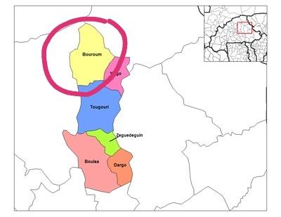 carte de la commune de Bouroum